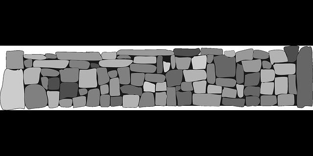 zeď s kamenů